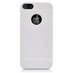 """""""Nillkin"""" Frosted Shield dėklas - baltas + apsauginė plėvelė (iPhone 5 / 5S / SE)"""
