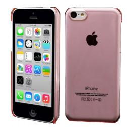Skaidrus plastikinis dėklas - rožinis (iPhone 5C)