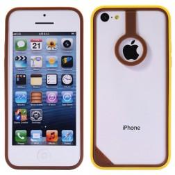 """""""BASEUS"""" dėklas (rėmelis) - rudas/geltonas (iPhone 5C)"""