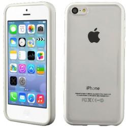 Plastikinis dėklas - skaidrus/baltas (iPhone 5C)