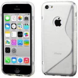 Silikoninis dėklas - skaidrus (iPhone 5C)