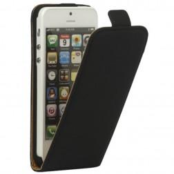 Klasikinis vertikaliai atverčiamas dėklas - juodas (iPhone 5 / 5S / SE)