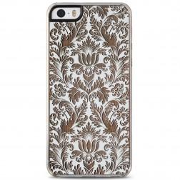 """""""Crafted Cover"""" natūralaus medžio dėklas - Gėlynas (iPhone 5 / 5S / SE)"""
