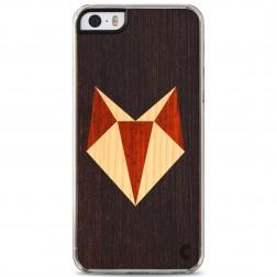 """""""Crafted Cover"""" natūralaus medžio dėklas - Lapė (iPhone 5 / 5S / SE)"""