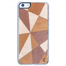 """""""Crafted Cover"""" natūralaus medžio dėklas - Mozaika II (iPhone 5 / 5S / SE)"""