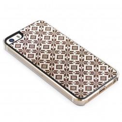"""""""Crafted Cover"""" natūralaus medžio dėklas - Etno II (iPhone 5 / 5S / SE)"""