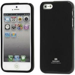 """""""Mercury"""" Color dėklas - juodas (iPhone 5 / 5S / SE)"""
