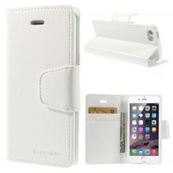 """""""Mercury"""" Sonata atverčiamas dėklas - baltas (iPhone 5 / 5S / SE)"""