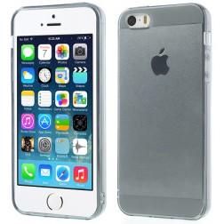 Ploniausias TPU skaidrus dėklas - pilkas (iPhone 5 / 5S / SE)