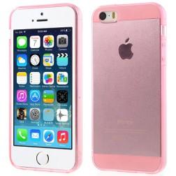 Ploniausias TPU skaidrus dėklas - rožinis (iPhone 5 / 5S / SE)