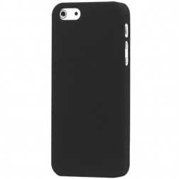 Klasikinis matinis plastikinis dėklas - juodas (iPhone 5 / 5S / SE)