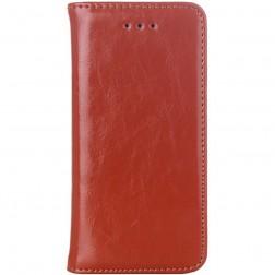 Solidus atverčiamas dėklas - rudas (iPhone 5 / 5S / SE)