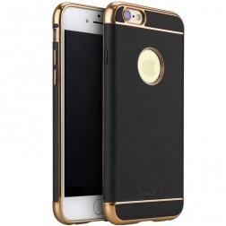 """""""IPAKY"""" Luxury kieto silikono (TPU) dėklas - juodas / auksinis (iPhone 6 / 6s)"""