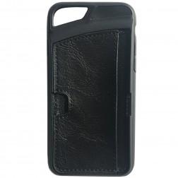 """""""Vintage"""" dėklas su kišenėle - juodas (iPhone 6 / 6s)"""