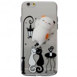 """""""Squezy"""" Cat kieto silikono (TPU) dėklas - skaidrus (iPhone 6 / 6S)"""