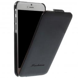 Vertikaliai atverčiamas dėklas - juodas (iPhone 6 / 6s)