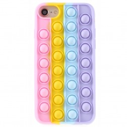 """""""Popit"""" Bubble minkšto silikono (TPU) dėklas - rožinis (iPhone 6 / 7 / 8 / SE 2020)"""