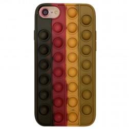 """Popit"" Bubble minkšto silikono (TPU) dėklas - rudas (iPhone 6 / 7 / 8 / SE 2020)"