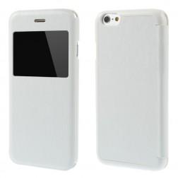 """""""Smart Window"""" atverčiamas odinis dėklas - baltas (iPhone 6 / 6s)"""
