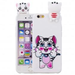 """""""Squezy"""" Cat kieto silikono (TPU) dėklas - baltas (iPhone 6 / 6S)"""