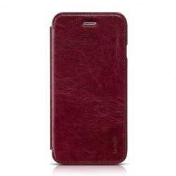 """""""HOCO"""" Crystal Classic atverčiamas dėklas - bordo (iPhone 6 / 6s)"""