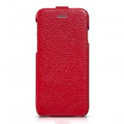 """""""HOCO"""" Duke vertikaliai atverčiamas dėklas - raudonas (iPhone 6 / 6s)"""