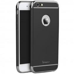 """""""IPAKY"""" Luxury kieto plastiko dėklas - juodas / sidabrinis (iPhone 6 / 6s)"""