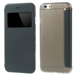 Atverčiamas dėklas su langeliu - juodas (iPhone 6 / 6s)