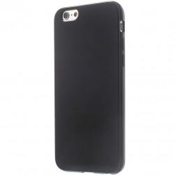 Kieto silikono (TPU) blizgus dėklas - juodas (iPhone 6 / 6s)