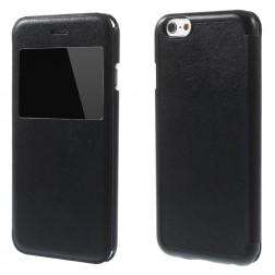 """""""Smart Window"""" atverčiamas odinis dėklas - juodas (iPhone 6 / 6s)"""