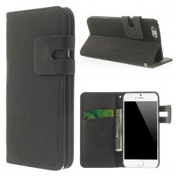 Verstos odos atverčiamas dėklas - juodas (iPhone 6 / 6s)