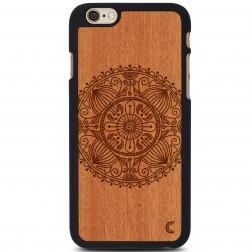 """""""Crafted Cover"""" natūralaus medžio dėklas - Mandala (iPhone 6 / 6s)"""