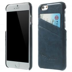 Odinis dėklas su kortelių laikikliu - mėlynas (iPhone 6 / 6s)