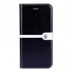 """""""Nillkin"""" Ice atverčiamas dėklas - juodas + apsauginė ekrano plėvelė (iPhone 6 / 6s)"""