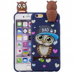 """Squezy"" Owl kieto silikono (TPU) dėklas - mėlynas (iPhone 6 / 6S)"
