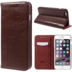 Solidus atverčiamas odinis dėklas - rudas (iPhone 6 Plus / 6s Plus)