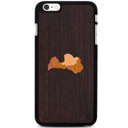 """""""Crafted Cover"""" natūralaus medžio dėklas - Latvija (iPhone 6 Plus / 6s Plus)"""