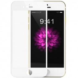 """""""Devia"""" 9H Tempered Glass apsauginis ekrano stiklas 0.33 mm + nugarėlės plėvelė - baltas (iPhone 6 Plus / 6S Plus)"""