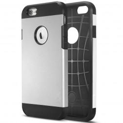 Sustiprintos apsaugos dėklas - sidabrinis (iPhone 6 Plus / 6s Plus)
