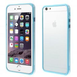 Rėmelis (bamperis) - skaidrus, šviesiai mėlynas (iPhone 6 Plus / iPhone 6s Plus)
