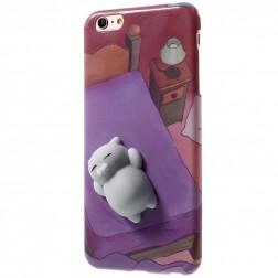 """""""Squezy"""" Cat kieto silikono (TPU) dėklas - rožinis (iPhone 6 Plus / 6s Plus)"""