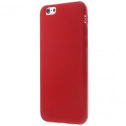 Kieto silikono (TPU) blizgus dėklas - raudonas (iPhone 6 / 6s)