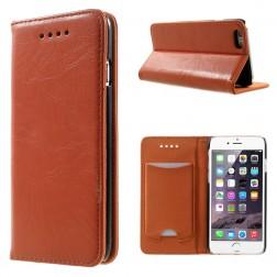 Solidus atverčiamas odinis dėklas - oranžinis (iPhone 6 / 6s)