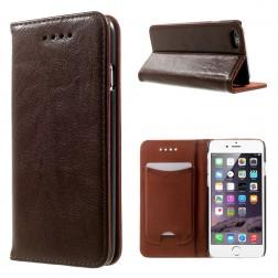 Solidus atverčiamas odinis dėklas - rudas (iPhone 6 / 6s)