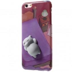 """""""Squezy"""" Cat kieto silikono (TPU) dėklas - violetinis (iPhone 6 / 6S)"""