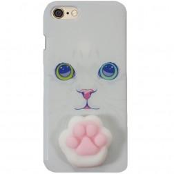 """""""Squezy"""" Pėdutė kieto silikono (TPU) dėklas - baltas (iPhone 6 / 6S)"""