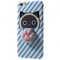 """""""Squezy"""" Pėdutė kieto silikono (TPU) dėklas - mėlynas (iPhone 6 / 6S)"""
