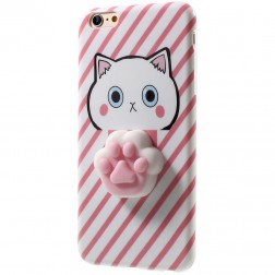 """""""Squezy"""" Pėdutė kieto silikono (TPU) dėklas - rožinis (iPhone 6 / 6S)"""