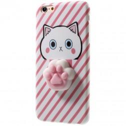 """""""Squezy"""" Pėdutė kieto silikono (TPU) dėklas - rožinis (iPhone 7)"""