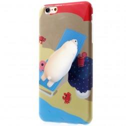 """""""Squezy"""" Polar Bear kieto silikono (TPU) dėklas - rudas (iPhone 6 / 6S)"""